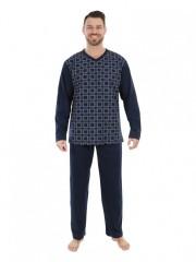 Pánské dlouhé pyžamo P 1403 Evona č.1