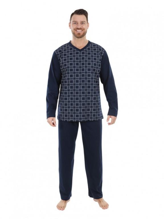 Pánské dlouhé pyžamo P 1403 Evona