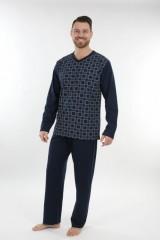 Pánské dlouhé pyžamo P 1403 Evona č.2