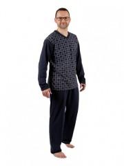 Pánské dlouhé pyžamo P 1403 Evona č.3