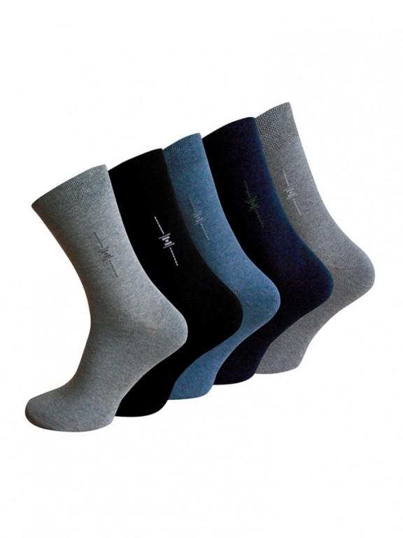 5 PACK pánských ponožek BUSINESS