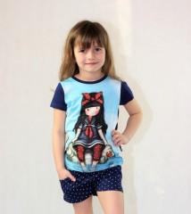 Dívčí tričko GORJUSS světle modré č.4