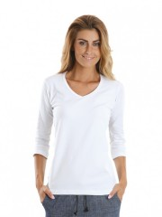 Dámské triko EBY V bílé č.1