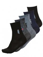 5 PACK dámských vzorovaných ponožek 028 č.1
