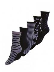 5 PACK dámských vzorovaných ponožek 323 č.1