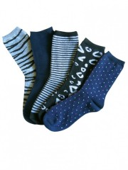 5 PACK dámských vzorovaných ponožek 323 č.2