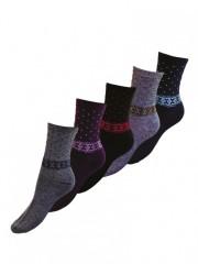 5 PACK dámských vzorovaných ponožek 316 č.1