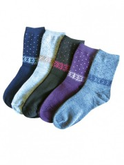 5 PACK dámských vzorovaných ponožek 316 č.2