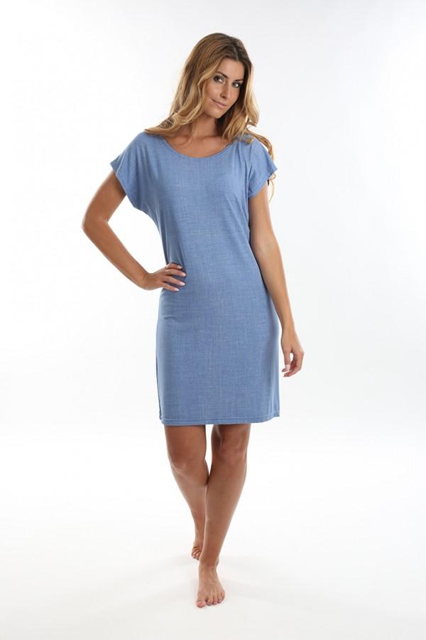 Dámské krátké šaty JEANS světlé  42e61d7051