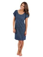 Dámské krátké šaty JEANS tmavé č.1