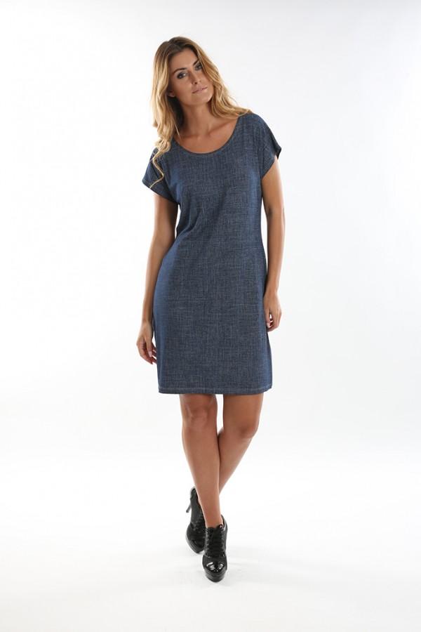 Dámské krátké šaty JEANS tmavé  75f774911e