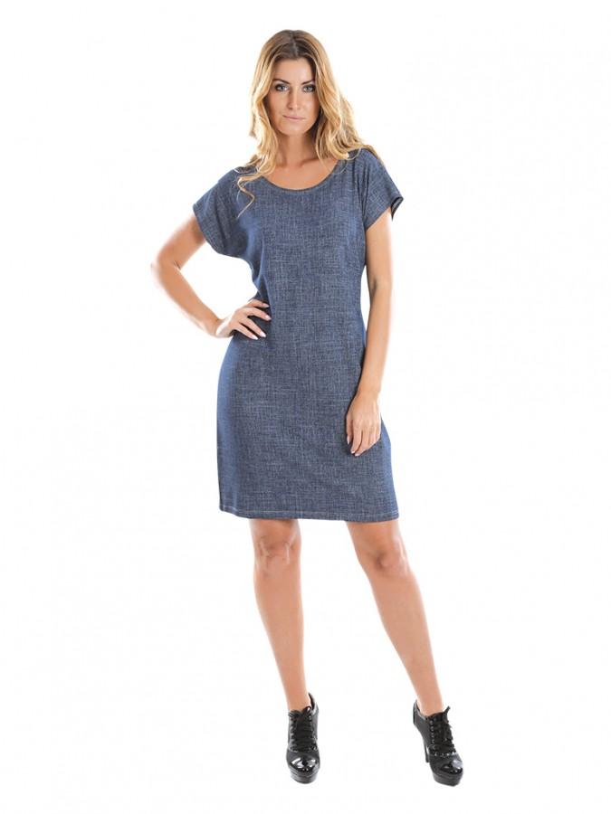 890c0a553 Dámské krátké šaty JEANS tmavé | EVONA