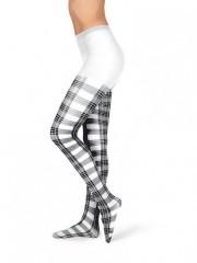 Dámské punčochové kalhoty TARTAN bílé č.1