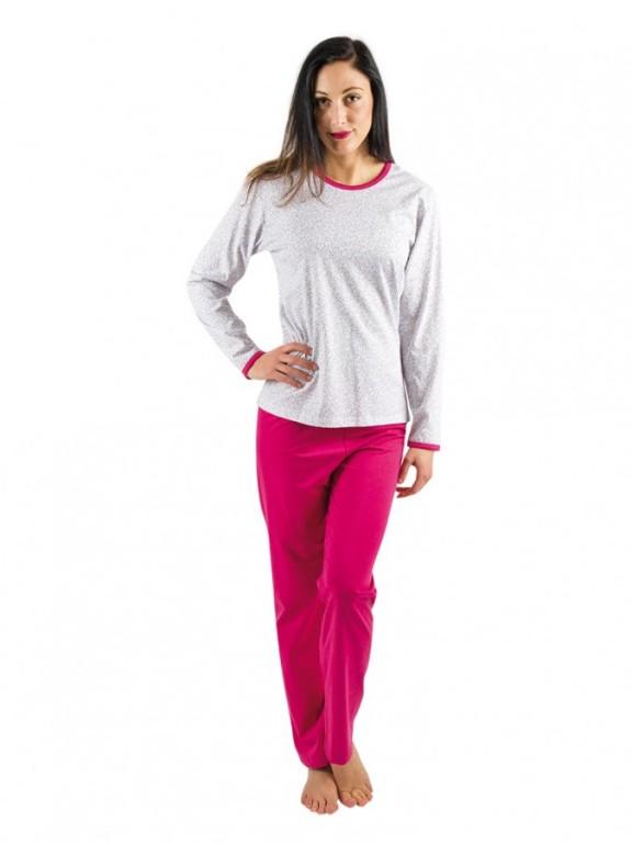 Dámské pyžamo P1406 sedmikráska růžové