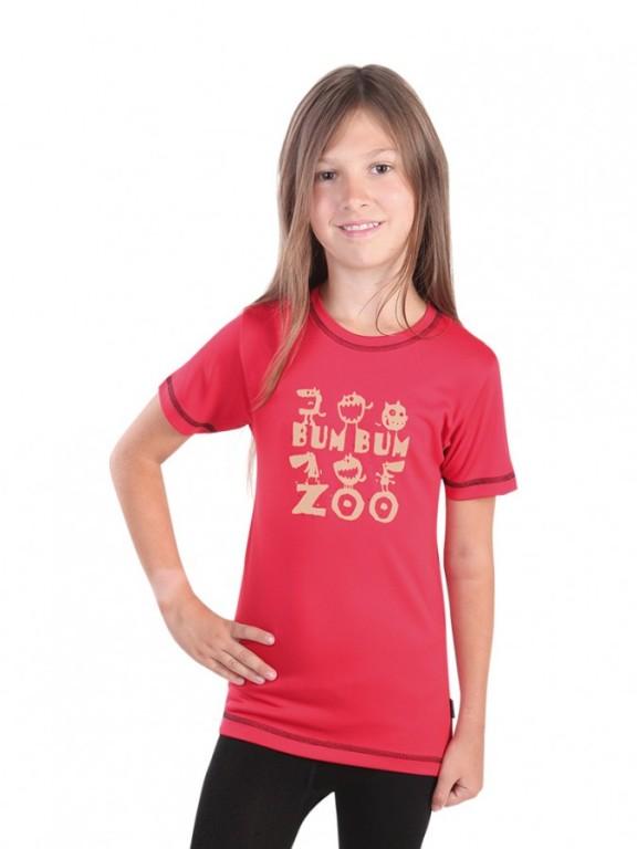 Dětské sportovní triko ZOO červené