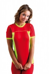 Dámské sportovní triko VELO D červeno žluté č.1