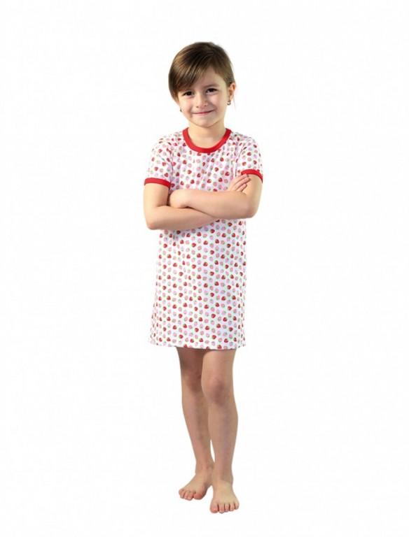 Dívčí noční košile P1415 jahůdky