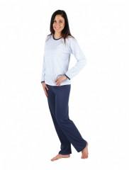 Dámské pyžamo P1406 sedmikráska modré č.1