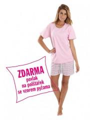 Dámské krátké pyžamo BLANKA růžové č.1