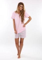 Dámské krátké pyžamo BLANKA růžové č.2