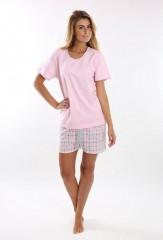 Dámské krátké pyžamo BLANKA růžové č.3