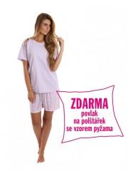 Dámské krátké pyžamo BLANKA fialové č.1
