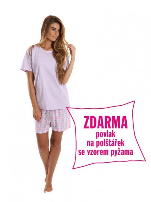 Dámské krátké pyžamo BLANKA fialové
