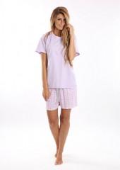 Dámské krátké pyžamo BLANKA fialové č.2