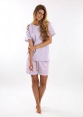 Dámské krátké pyžamo BLANKA fialové č.3