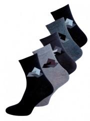 5 PACK pánských vzorovaných ponožek 5060 č.1