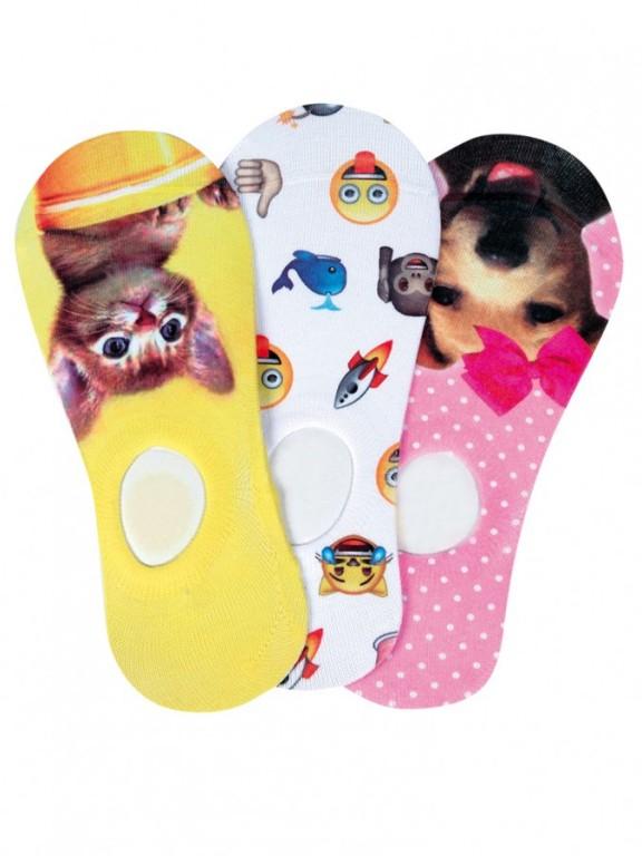 Dámské nízké ponožky BOTOŽKY FOTOTISK