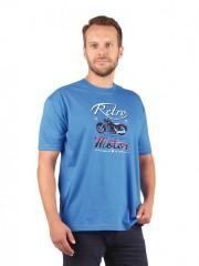 Pánské triko RETRO modré č.1