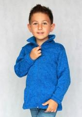 Dětská mikina PANDA tmavě modrý melír č.1