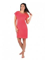 Dámské krátké šaty TEMPESTA korálové č.1