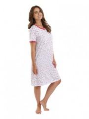 Dámská noční košile P1411 růžové listy č.1