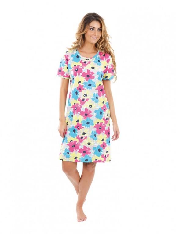 Dámské šaty KAMILA květy pestrobarevné