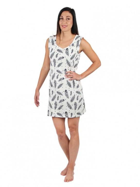 Dámské letní šaty 11 bez rukávů peří