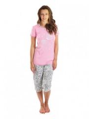 Dívčí pyžamo VEGANKA růžové č.1
