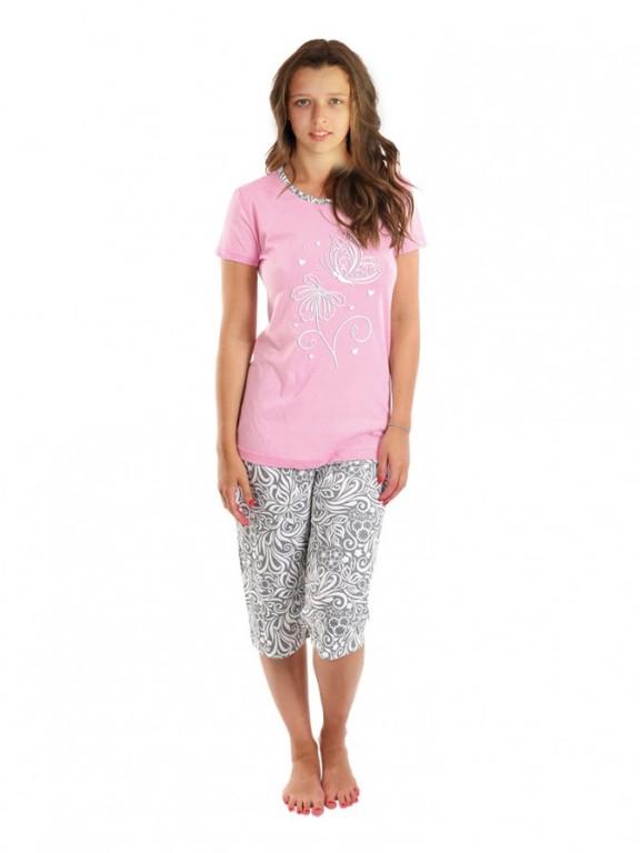 Dívčí pyžamo VEGANKA růžové