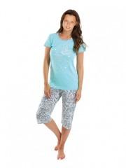 Dívčí pyžamo VEGANKA zelené č.1