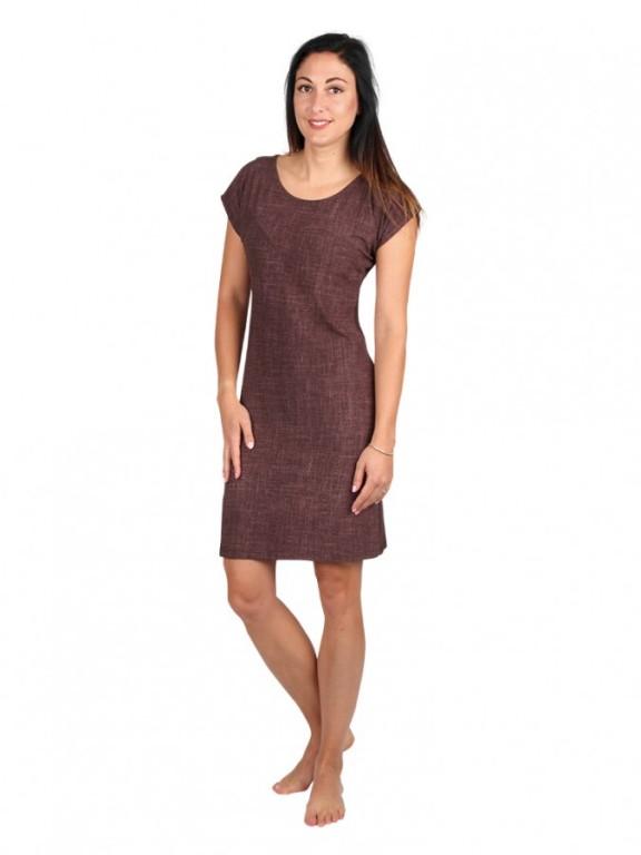 Dámské krátké šaty 13 JEANS hnědé