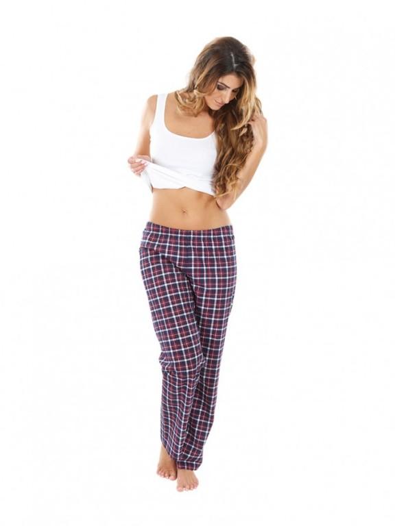 Dámské pyžamové kalhoty ZOE červené káro