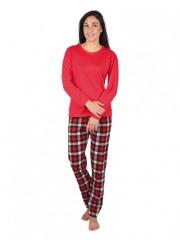 Dámské pyžamo GALA červené č.1