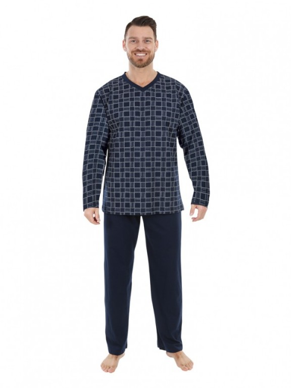 Pánské dlouhé pyžamo P 1801 Evona