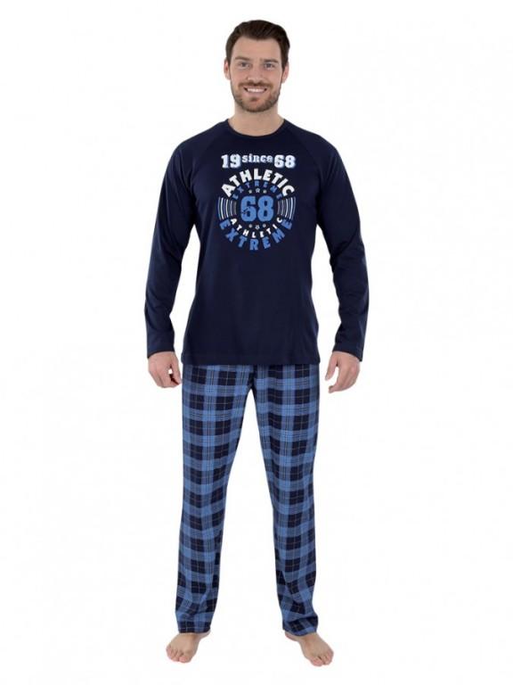Pánské dlouhé pyžamo KENDY modré