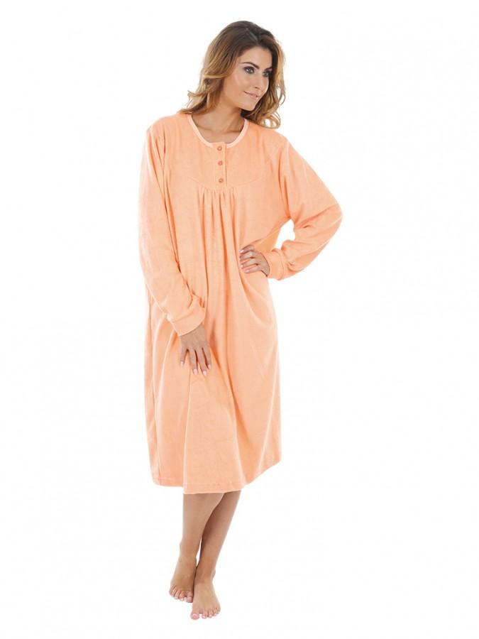 7fc0b171088 Dámská froté noční košile FIONA oranžová