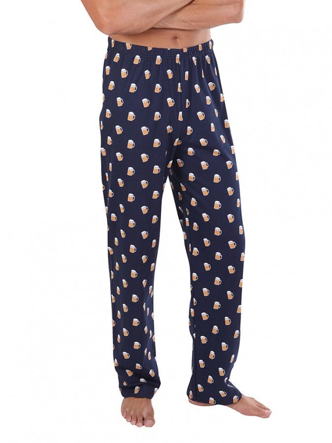 dc1e5d8eb737 Pánské pyžamové kalhoty P1419 PIVO modré