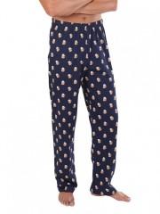 Pánské pyžamové kalhoty P1419 PIVO modré č.3