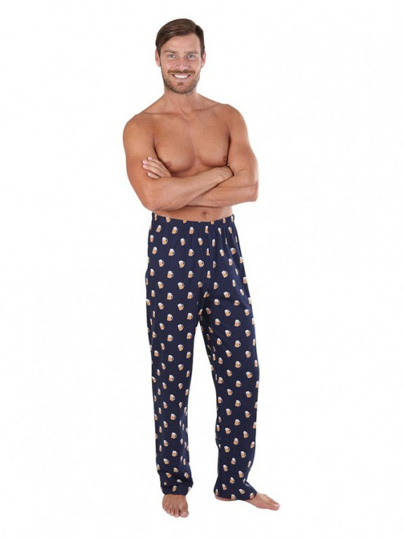 Pánské pyžamové kalhoty P1419 PIVO šedé