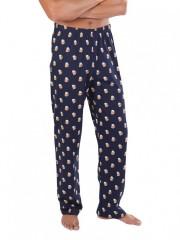 Pánské pyžamové kalhoty P1419 PIVO šedé č.2